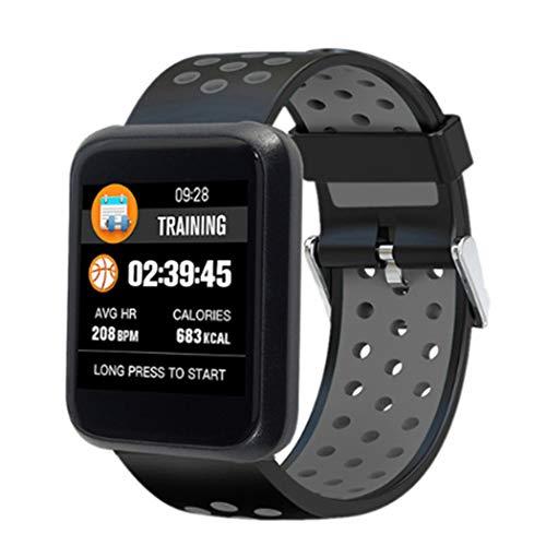 , 1,3-Zoll-Farbbildschirm Schritt-für-Schritt-Trainings-Herzfrequenz Fitness Tracker Smart Armband, Geeignet für iOS und Android, Ip67 Wasserdicht-A ()