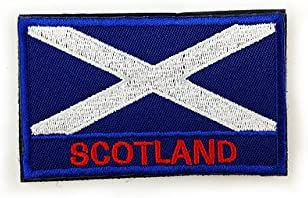 Pinkdose® Scotland: National Flag Spain Russian Flag Patch Armband Embroidered Standard Customized EU Member 3D Embroidered Fabric Design Badge