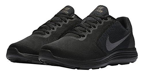 Nike Revolution 3, Chaussures de Running Homme Multicolore (Black/mtlc Dark Grey-anthracite)