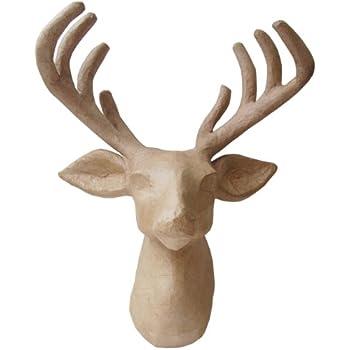 Country Love Crafts Reindeer Head Papier Mache: Amazon.co