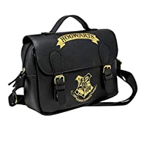 Harry Potter Gifts for Kids - PU Leather Thermal Insulated Lunch Bag - Girls Boys Spacious School Satchel - Unisex Hogwarts Children Food Accessories - Resistant Day Trip Picnic Snacks Carrier