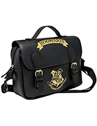 Harry Potter Lunch Bag Hogwarts Black & Gold (Satchel Style) Blue Studios Borse