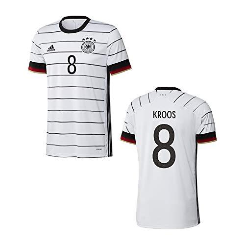adidas DFB Deutschland Trikot Home EM 2020 inkl. Original Flock (Kroos + 8, L)