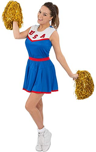 Fancy Damen Kostüm Dress Sport - Amerikanischer Cheerleader Kostüm Sport Amerika Football Extra Large