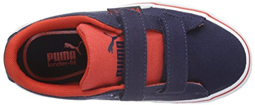 Puma Puma 1948 Vulc Cv Kids Unisex-Kinder Low-Top Blau (peacoat-white 01)