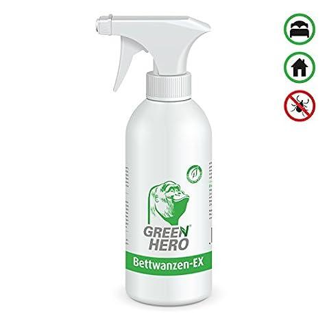 GreenHero® Bettwanzen-Ex Spray zur Bettwanzenbekämpfung   Fernhaltemittel gegen Bettwanzen und Milben   Wirkstoffe sind natürliche, ätherische Ö