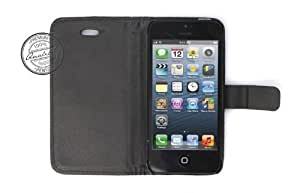 Mobiletto iPhone 5 Carbon CEO Flip Case - Schwarz (iPhone 5 Hülle - iPhone 5 Tasche - iPhone 5 Etui)