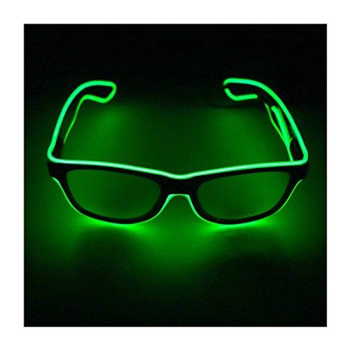 Wire Drahtbrille LED Leuchten Brille Party Dekor Grün ()