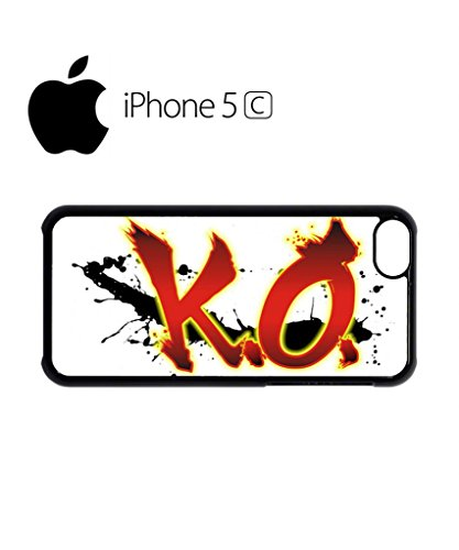 K.O. KnockOut Boxing Mobile Cell Phone Case Cover iPhone 5c Black Weiß