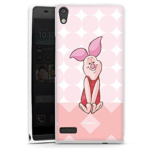 Huawei Ascend P6 Hülle Silikon Case Schutz Cover Disney Winnie Puuh Ferkel Fanartikel Merchandise