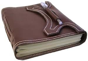 Author Large Brown Gothic Wrap Journal (21cm x 15cm)