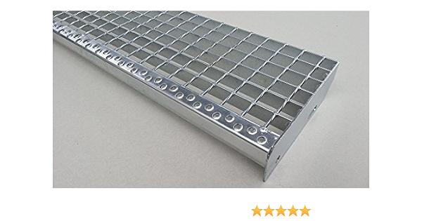 Einpress Treppenstufe EP Stufe Tritt Gitterroststufe 30x30 mm 600 x 240 mm