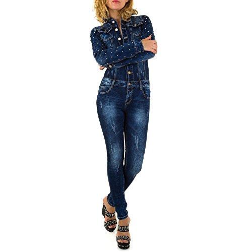 53c423927e Ital-Design Jumpsuit Skinny Jeans Overall Für Damen, Blau in Gr. M