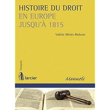Histoire du droit en Europe jusqu'à 1815