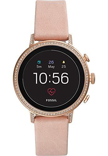 Fossil Q Venture HR Rose Gold GPS (satélite) Reloj Inteligente - Relojes Inteligentes (Pantalla táctil, 4 GB, WiFi, GPS (satélite), Rose Gold)