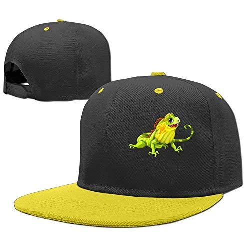 Kostüm Iguana - Wfispiy Hip Hop Caps Iguana Reptile - für Jungen-Mädchen verstellbare Baseballmütze aus Baumwolle 007341