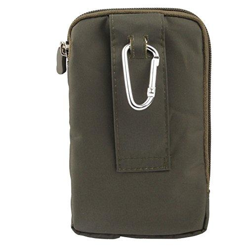 Wkae Case Cover 3-Schicht-Reißverschluss Tragetasche mit Karabiner-Haken für iPhone 6 Plus, Samsung Galaxy Note 5 / S7 / Alle 5,5-Zoll-Gerät ( SKU : S-SCS-4912DYB ) S-SCS-4912AG