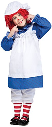 Fun World Costumes Baby Girl's Raggedy Ann Toddler Costume, Blue/White/Red, Large