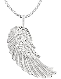 Engelsrufer Damen-Anhänger Kristall 925 Sterling Silber rhodiniert mittel Crystal ERW-M-01-ZI