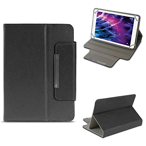 NAUC Tablet Tasche für Medion Lifetab P8524 Hülle Cover Schutz Case Tablettasche Etui, Farben:Schwarz