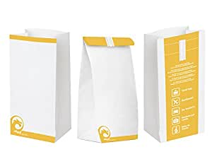 Oqard Vomit Bag with Closure Strip - Reinforced Seam and Lined with Durable Polythene Film for Festival, Party, Nausea, Early Pregnancy (5)