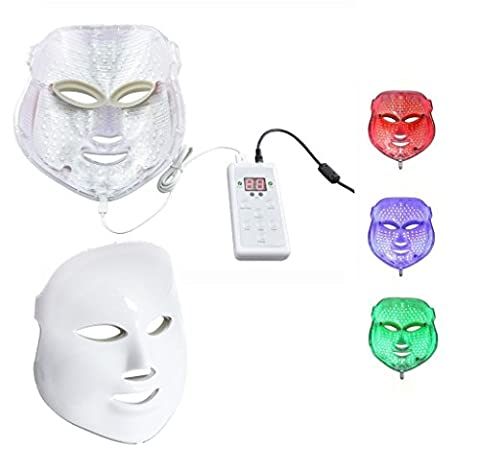 Beautystar LED Photon Therapy Red Blue Green Light Treatment Facial Beauty Skin Care Phototherapy Mask with UK Plug