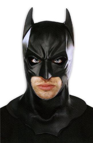 Batman Maske Deluxe Schwarze Vollmaske aus Latex, (Deluxe Erwachsene Die Joker Kostüme)
