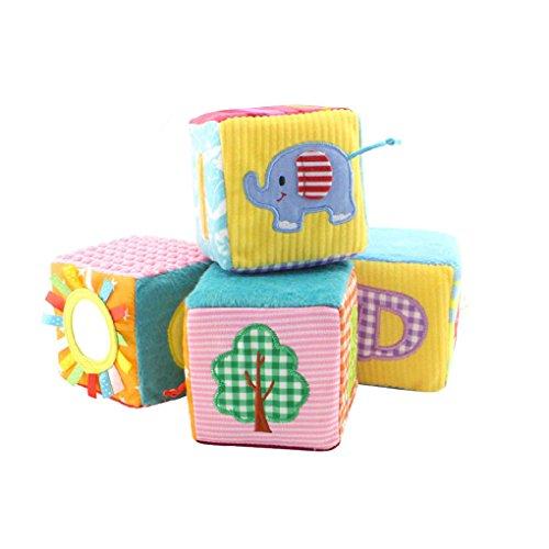 4pcs / set Happy Monkey Cloth Building Blocks Muñeca