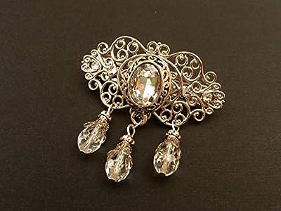 Petite pince à cheveux, bijoux de cheveux de mariée avec des cristaux clairs