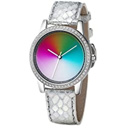 Rainbow e/motion of color Quartz Analogue AV21A-SS-ga Ladies Watch