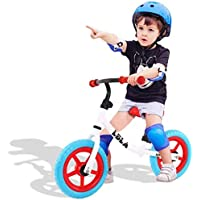 LBLA Kids Balance Bike with Free Protection Kits,Balance Cycle No Pedal for Kids and Toddlers 2-6 Year(White)