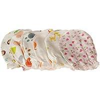 weiche Baumwolle 5Paar Cute Cartoon 0–6Monate Newborn Baby Infant Anti Catch Scratch Handschuhe Fäustlinge zufällige