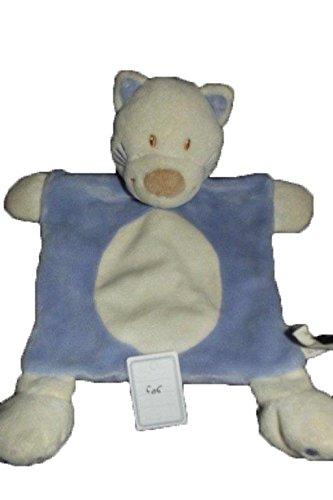 Kiabi–Doudou Kiabi gato plana azul morado y...