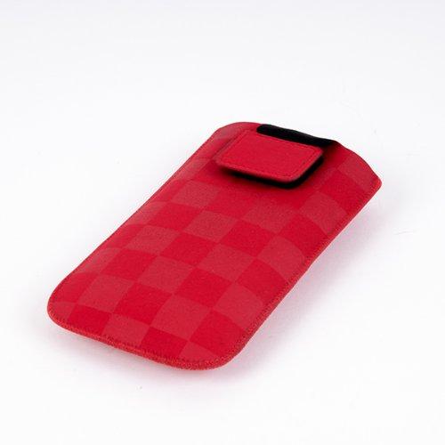 NFE² Etui offen - rot - mit Ausziehlasche und flacher Gürtelschlaufe für Samsung B2710