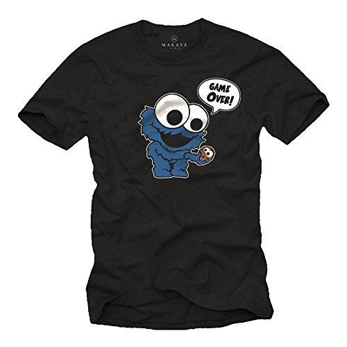 Camiseta Divertidas - Monstruo de Las Galletas - Regalos Frikis Originales Negra L