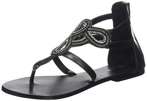 TANTRA - Strap Sandals With Beads, Sandali Donna Nero (Black)