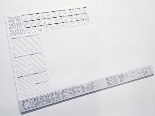 Schreibunterlage 3 Jahre (19/20/21) Wochenplaner Schulferien Postgebühren Am Kopf geleimt...