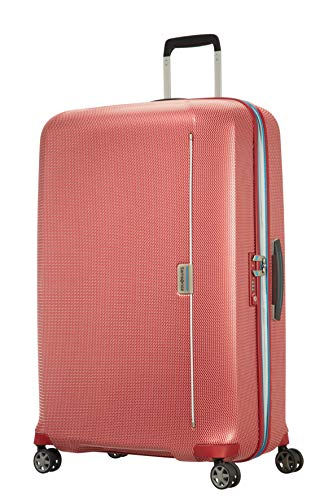Samsonite Mixmesh Bagaglio a Mano, Spinner XL (81cm-122L), Rosso (Red/Pacific Blue)