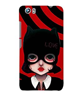 PRINTSWAG CARTOON GIRL Designer Back Cover Case for MICROMAX CANVAS FIRE 4 A107