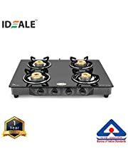 Ideale Essential 4 Burner Glass Top Gas Stove