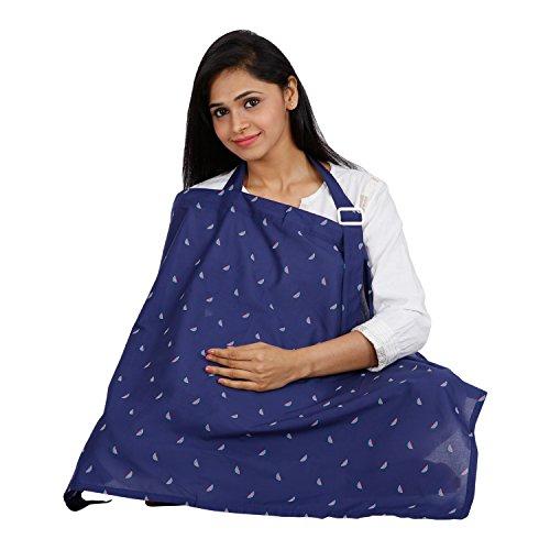 lulamom Cotton Nursing Cover(Navy)