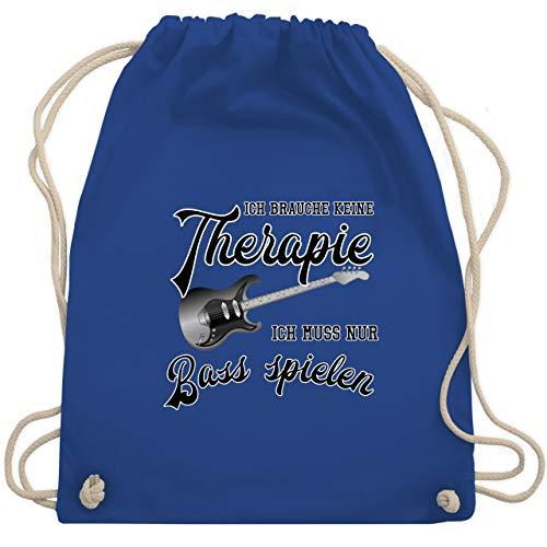 Instrumente - Ich brauche keine Therapie ich muss nur Bass spielen - Unisize - Royalblau - WM110 - Turnbeutel & Gym Bag (Große Bass-spieler)
