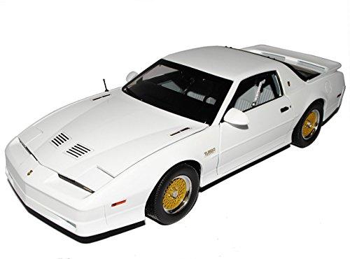 Trans Am Modellauto (Pontiac Firebird Trans Am GTA Coupe Weiss 3. Generation 1982-1992 1/18 Greenlight Modell Auto mit individiuellem Wunschkennzeichen)