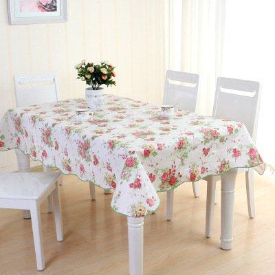 MH-RITA Wasserdicht Cleaning Free Kunststoff Tischdecke PVC Tischdecke Couchtisch Tuch D 137 * 150 Hohe (Klar Tischdecke Kunststoff Schneeflocke)