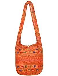BolsaThai100% algodón, diseño hippy, para colgar al hombro