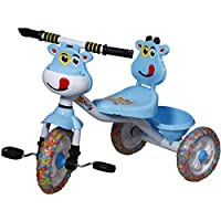 ODELEE Musical Baby Tricycle for Kids with Basket Blue Color Tricycle for Baby Girl Or Baby Boy with Anti Skid Pedal…