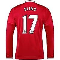 2015-2016 Man Utd Long Sleeve Home Shirt (Blind 17) - Kids