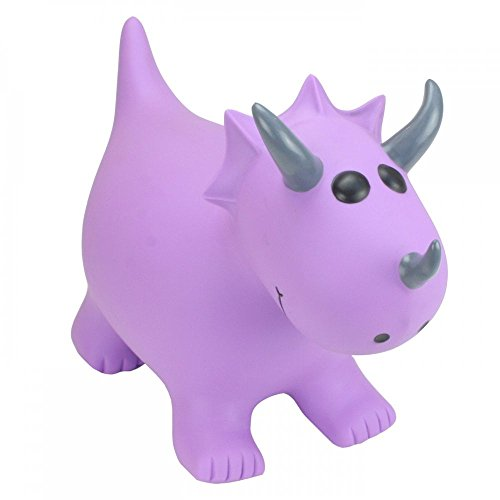 Happy Hopperz Triceratops, Color Morado