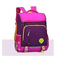 HYH Kindergarten Backpack Reducer Ridge Backpack Backpack Space Backpack Primary School Child Backpack Waterproof Lightweight - Brown good life