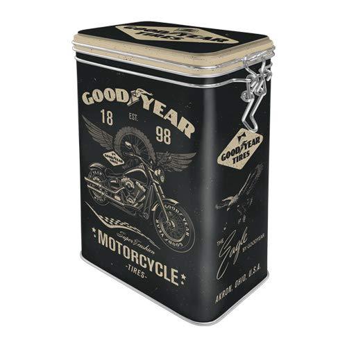Nostalgic-Art 31116 - Goodyear - Motorcycle , Retro Aromadose, Blech-Dose , Kaffee-Dose ,...